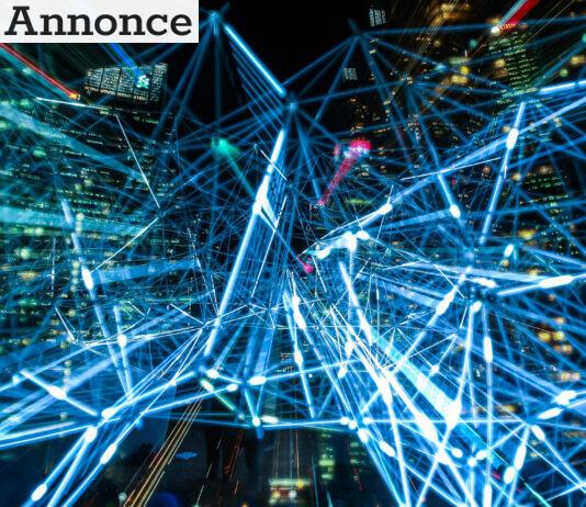 Abstrakt billede af netværk og teknologi